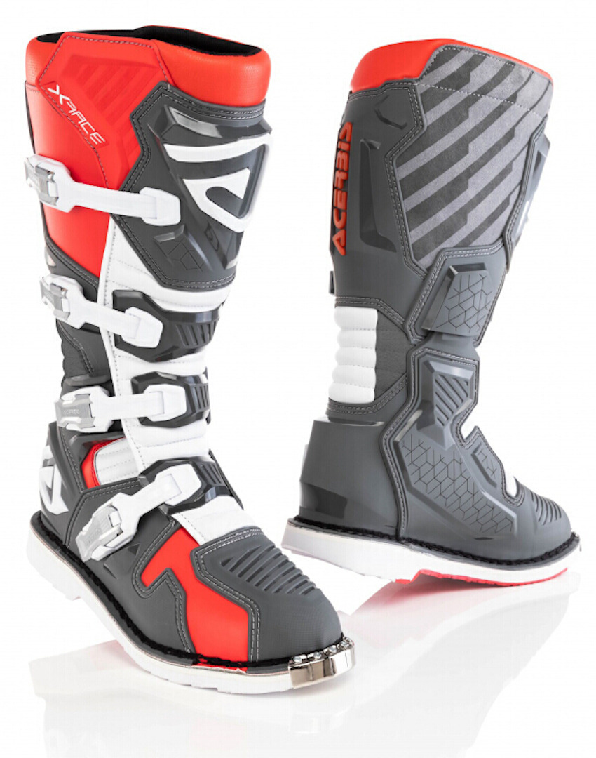 Acerbis X-Race Motocross Boots, grey-red, Size 41, grey-red, Size 41 from Acerbis