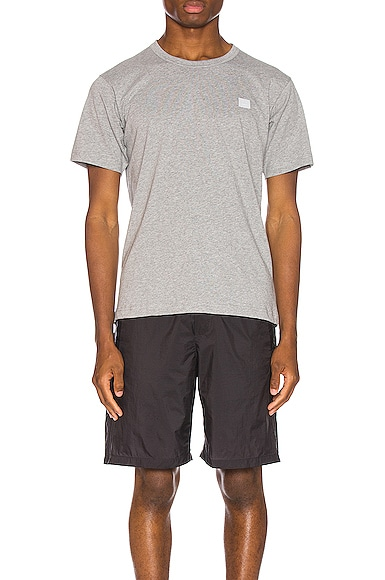 Acne Studios Nash Face Tee in Grey from Acne Studios