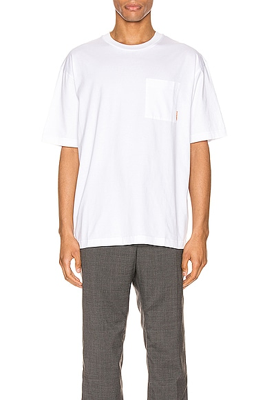 Acne Studios Pink Label Tee in White from Acne Studios