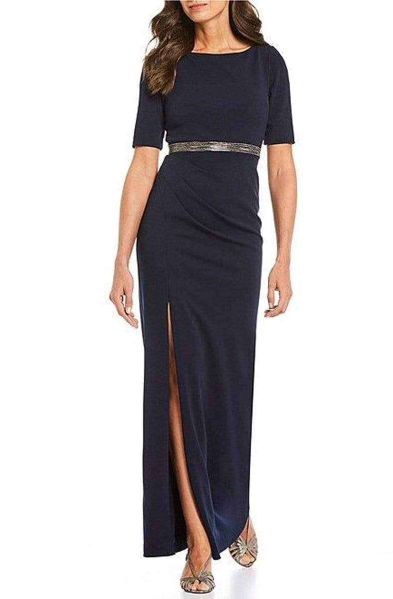 Adrianna Papell - AP1E205720 Bateau Embellished Crepe Sheath Dress from Adrianna Papell