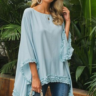 Batwing Ruffled Blouse from Aglam