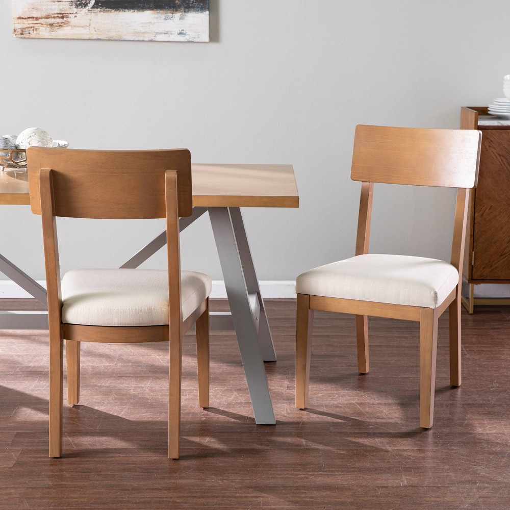 Set of 2 Trelltre Dining Chairs with Cushions Natural - Aiden Lane from Aiden Lane