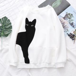 Cat Applique Pullover from Aigan