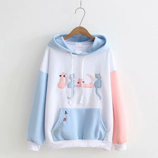 Cat Embroidered Hoodie from Aigan
