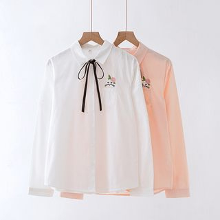 Cat Embroidered Shirt from Aigan