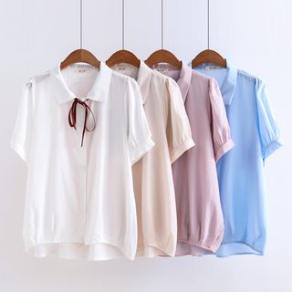 Chiffon Short-Sleeve Shirt from Aigan