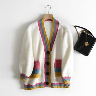 Contrast Trim Cardigan from Aigan