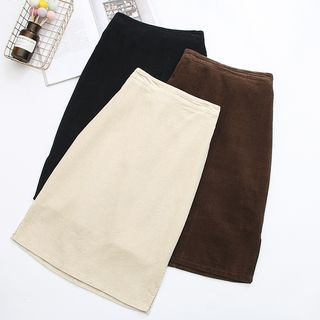 Corduroy A-Line Skirt from Aigan