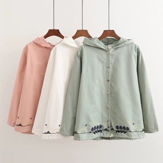 Embroidery Hooded Light Jacket from Aigan