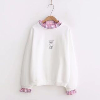 Frilled Trim Bear Pullover from Aigan