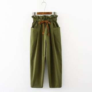 Frilled Trim Harem Pants from Aigan