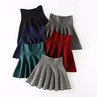 High-Waist Mini Knit Skirt from Aigan