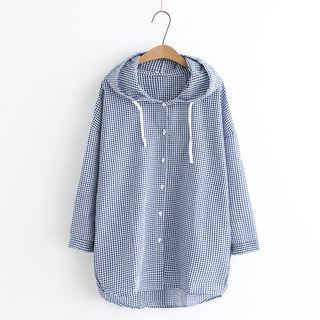 Hooded Plaid Jacket from Aigan