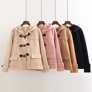 Plain Hooded Toggle Coat from Aigan