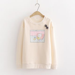 Printed Pullover Beige - One Size from Aigan