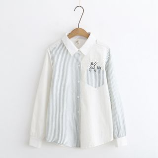 Striped Panel Shirt from Aigan