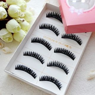 False Eyelashes #C12 (5 Pairs) As Shown In Figure - One Size from Aimo