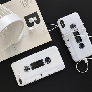Cassette Tape Print Phone Case - iPhone6 / 6S / 6 Plus / 7 / 7 Plus / 8 / 8 Plus / X from Aion