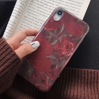 Floral Print Mobile Case - iPhone XS Max / XS / XR / X / 8 / 8 Plus / 7 / 7 Plus / 6s / 6s Plus from Aion