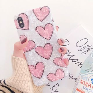 Heart Print Mobile Case - iPhone XS Max / XS / XR / X / 8 / 8 Plus / 7 / 7 Plus / 6s / 6s Plus from Aion
