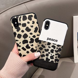 Leopard Print Mobile Case - iPhone XS Max / XS / XR / X / 8 / 8 Plus / 7 / 7 Plus / 6s / 6s Plus from Aion