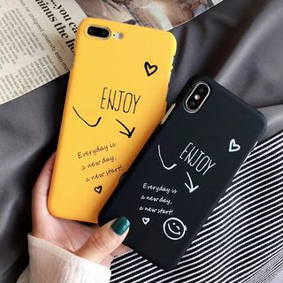 Smiley Lettering Mobile Case - iPhone X / 8 / 8 Plus / 7 / 7 Plus / 6S / 6S Plus from Aion
