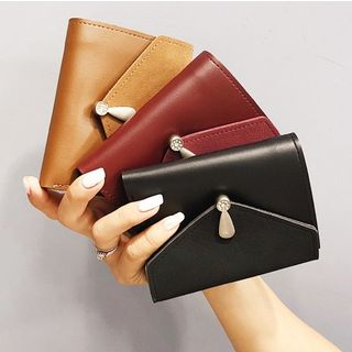 Faux Leather Flap Wallet from Aishang