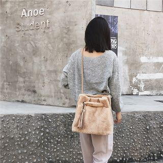 Furry Bucket Bag from Aishang