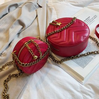 Quilted Round Crossbody Bag from Aishang