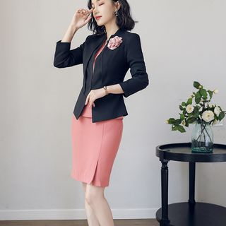 3/4-Sleeve Sheath Dress / Blazer / Set from Aision
