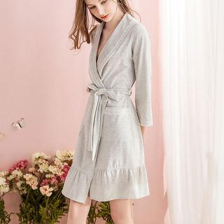 Lace Trim Pajama Robe from Aision