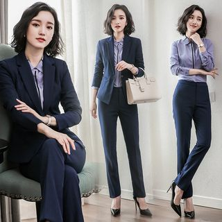Long/ Short-Sleeve Shirt/ Blazer/ Dress Pants/ Pencil Skirt/ Set from Aision