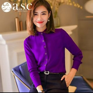 Long-Sleeve Plain Shirt from Aision