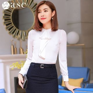 Long-Sleeve Ruffled Shirt from Aision
