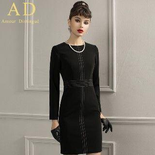 Long-Sleeve Sheath Dress from Aision