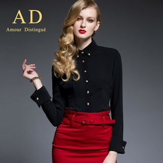 Long-Sleeve Shirt / Pencil Skirt from Aision