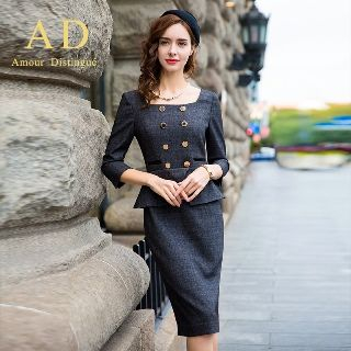 Peplum Sheath Dress from Aision
