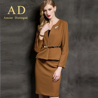 Pleated Blazer / Pencil Skirt from Aision