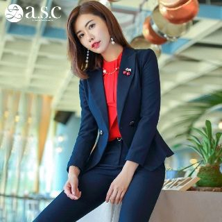 Set: Blazer + Long-Sleeve Shirt + Pencil Skirt + Pants from Aision