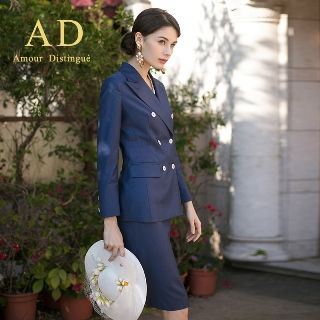 Set: Double-Buttoned Blazer + Pencil Skirt from Aision