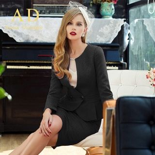 Peplum Blazer / Pencil Skirt / Embellished Top / Set from Aision