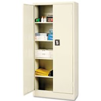 Space Saver Storage Cabinet, Four Shelves, 30w x 15d x 66h, Putty from Alera