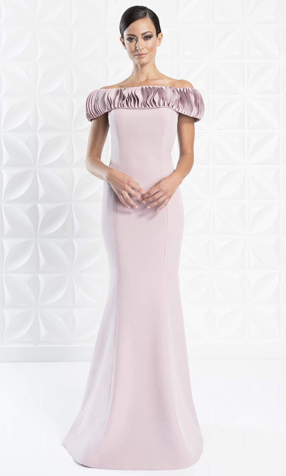 Alexander By Daymor - 1280 Ruffled Off-Shoulder Trumpet Dress from Alexander By Daymor