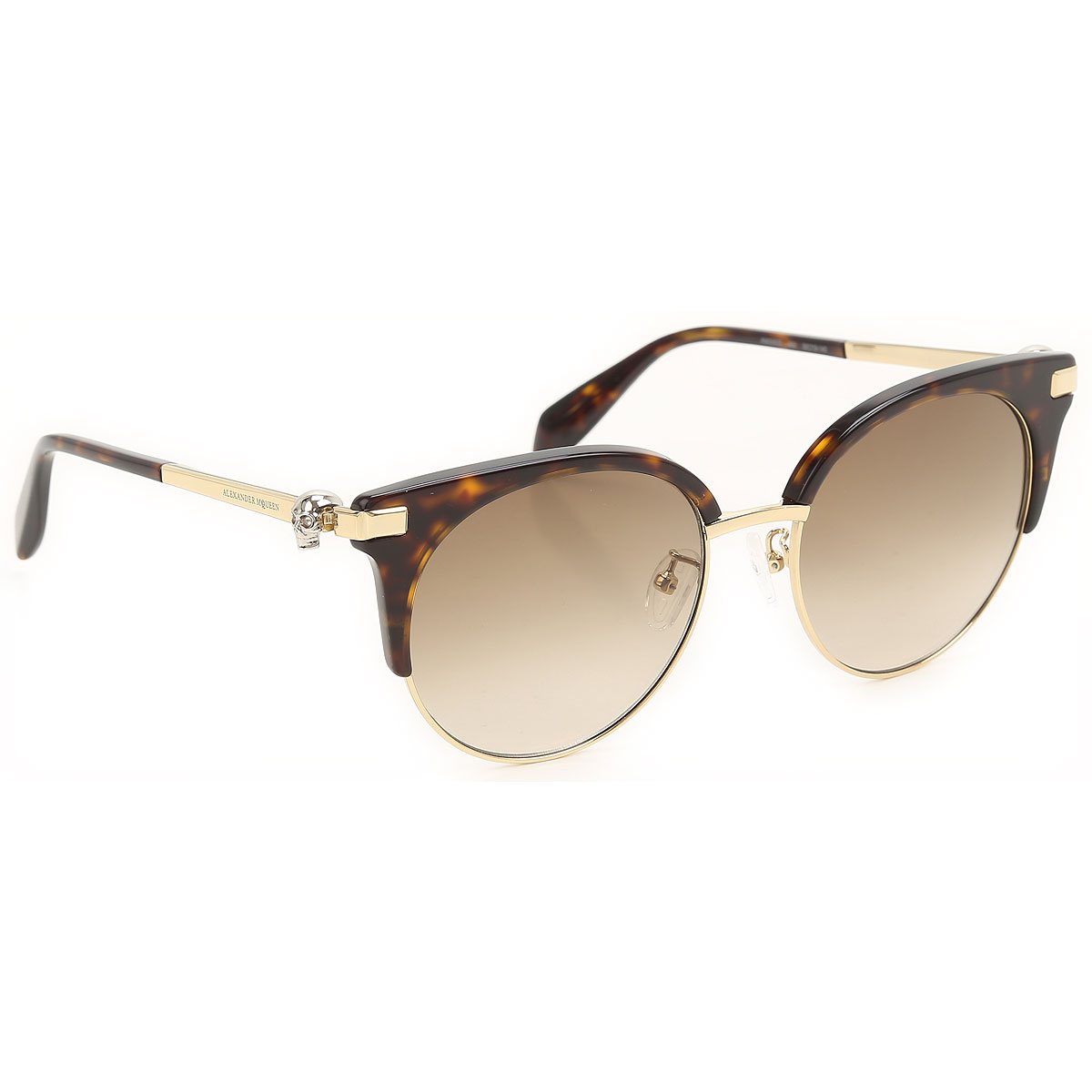 Alexander McQueen Sunglasses On Sale, Gold, 2021 from Alexander McQueen