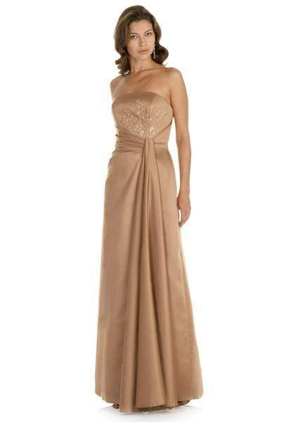 Alexia Designs - 2406 Strapless Pleat-Ornate Waist A-Line Dress from Alexia Designs