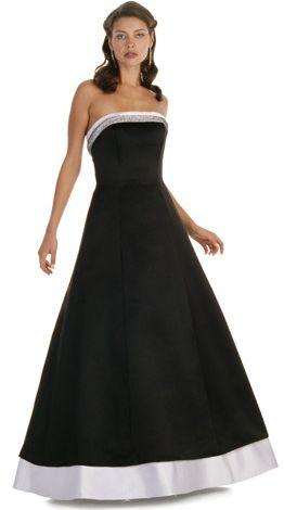 Alexia Designs - 2410 Two-Toned Strapless A-Line Dress from Alexia Designs