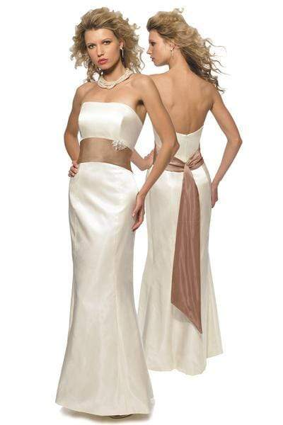 Alexia Designs - 2700 Strapless Satin Long Fit and Flare Gown from Alexia Designs