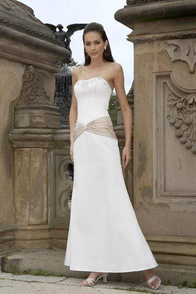 Alexia Designs - 2800 Embroidered Bodice Strapless Trumpet Dress from Alexia Designs