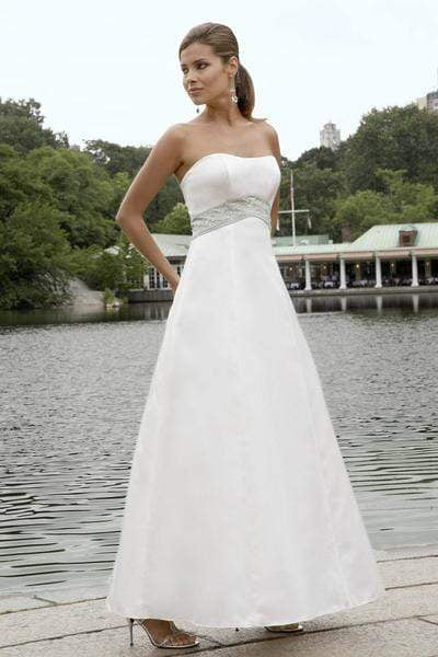 Alexia Designs - 2810 Strapless Inverted Basque A-Line Gown from Alexia Designs