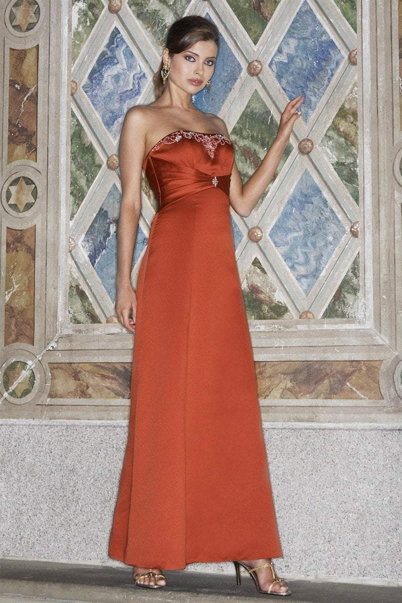 Alexia Designs - 2812 Embellished Strapless A-line Dress from Alexia Designs